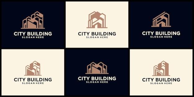 Недвижимость city building дизайн логотипа, жилое строительство, градостроительство, строительство, строительство логотипа