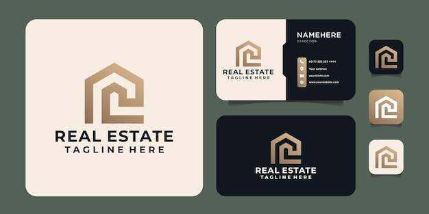 Real estate construction business logo