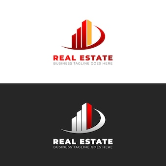 Real estate construction logo design template