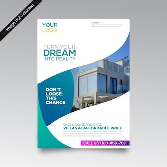 Real estate creative business brochure template
