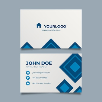 Real estate double sided business card