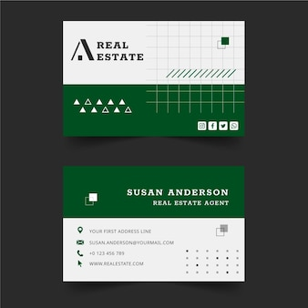 Real estate double-sided business card
