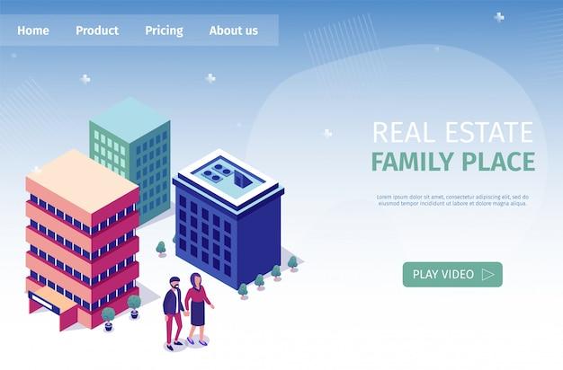 Баннерная надпись real estate family place