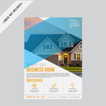 Real estate flyer background template a4 size