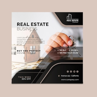 Real estate flyer square