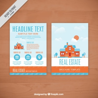 Real estate flyer with flat house