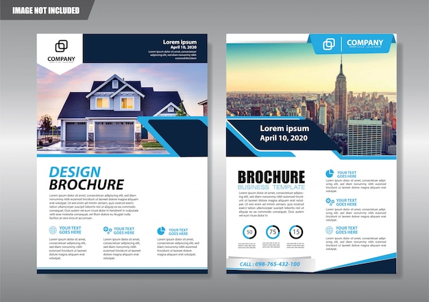 Real estate flyer with geometric shape