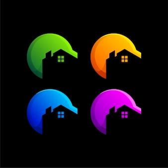 Дизайн логотипа градиента недвижимости
