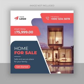 Real estate home sale banner or social media post