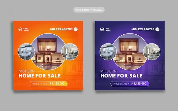 Real estate home sale banner