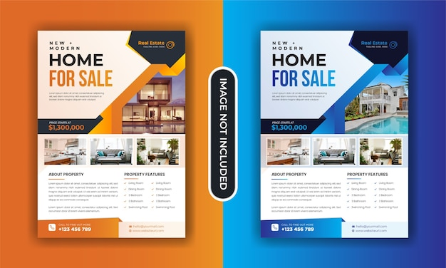 Real estate home sale flyer template