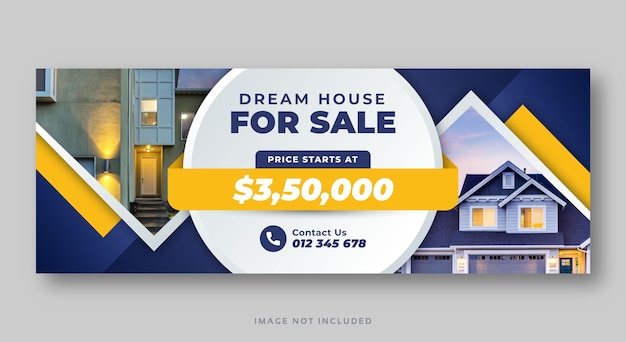 不動産住宅販売ソーシャルメディアカバーウェブバナー