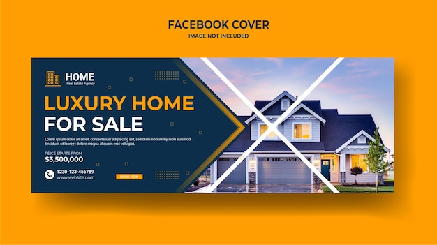 Продажа недвижимости дома в социальных сетях обложка веб-баннер