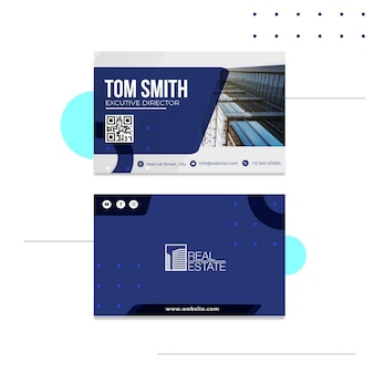 Real estate horizontal business card template
