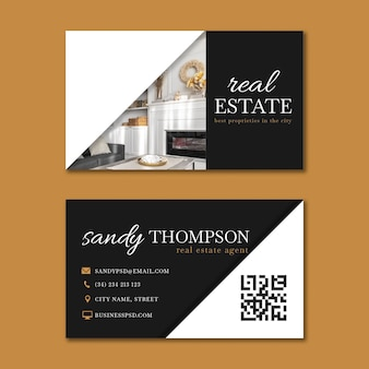 Real estate horizontal business card