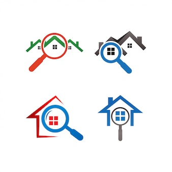 Real estate house finder logo template