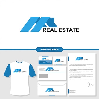 Real estate house graphic icon design template