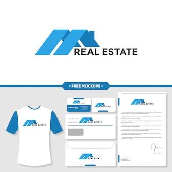 Шаблон дизайна графического значка дома недвижимости