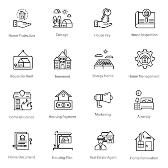 Real estate icons pack