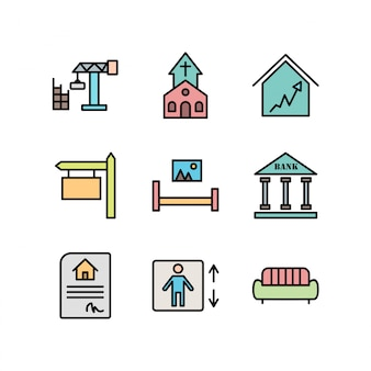 Real estate icons for personal and commercial use