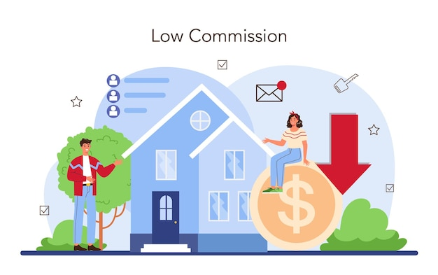 Real estate industry low comission for real estate agent work