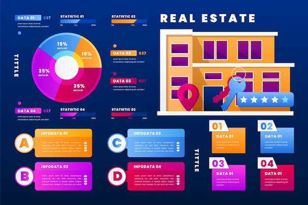 Real estate infographics template