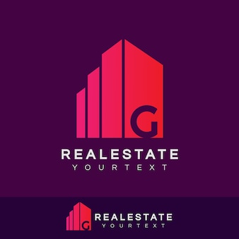 Real estate initial letter g logo design