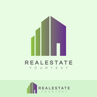 Real estate initial letter i logo design