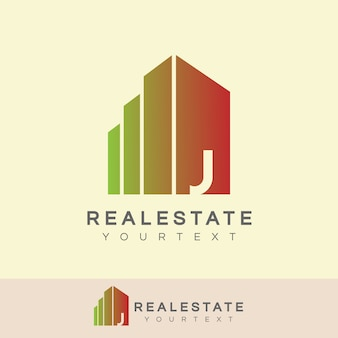 Real estate initial letter j logo design