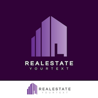 Real estate initial letter l logo design
