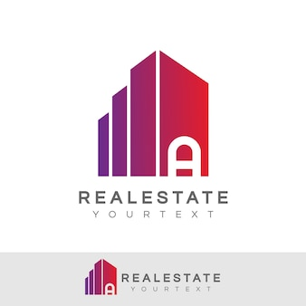 Real estate initial letter a logo design