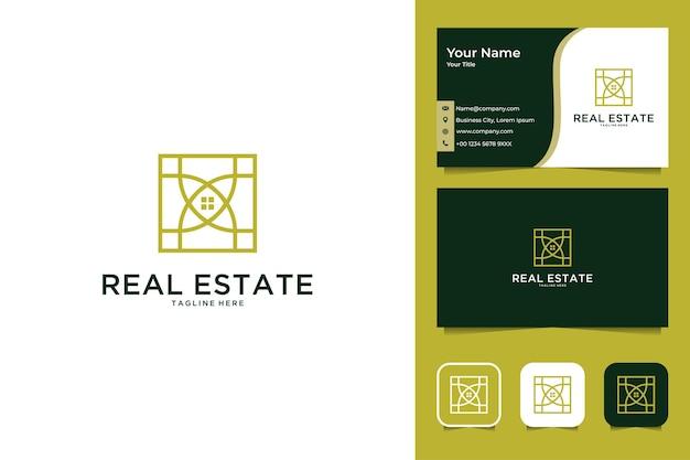 Real estate interior logo design and business card