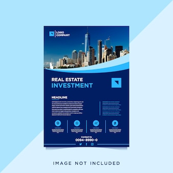Real estate investment flyer template with photo