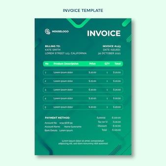 Real estate invoice template