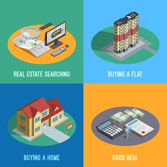 Real estate isometric elements
