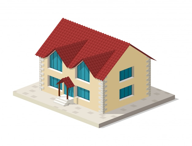 Real estate isometric house