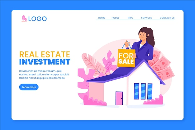 Real estate landing page concept