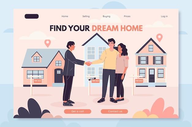Real estate landing page concept