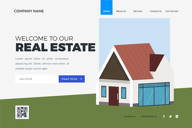 Real estate landing page style