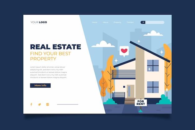 Шаблон целевой страницы недвижимости
