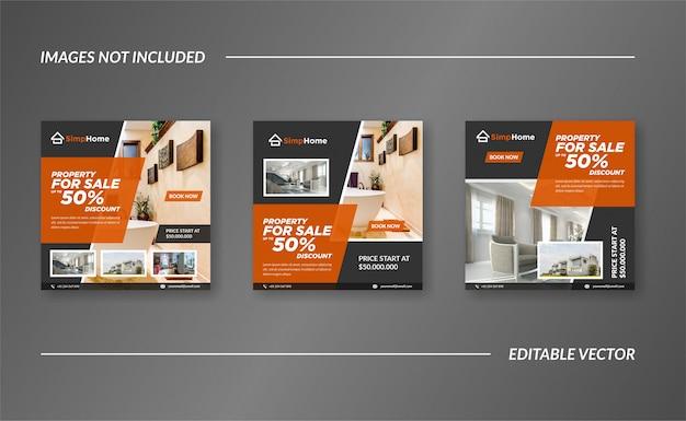 Real estate landing pages design vector