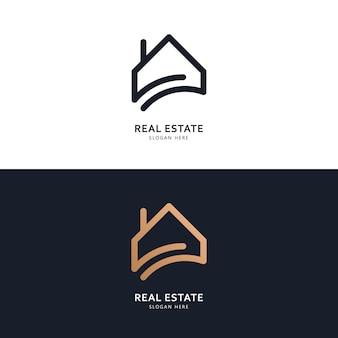 Концепция дизайна логотипа и значка недвижимости