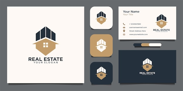 Real estate logo design and business card