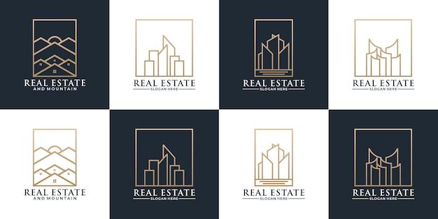 あなたのアイデアのロゴ会社のために設定された不動産のロゴデザイン
