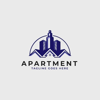 Real estate logo design template -  construction and architecture building logo