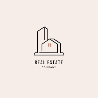 Real estate logo design template. home, business.