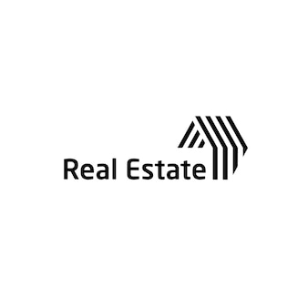 Шаблон дизайна логотипа недвижимости