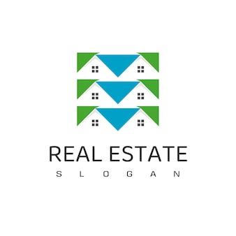 Шаблон оформления логотипа недвижимости