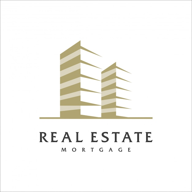 Real estate logo design, vector, illustration