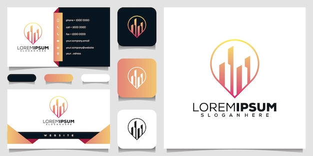 不動産のロゴデザイン Premiumベクター